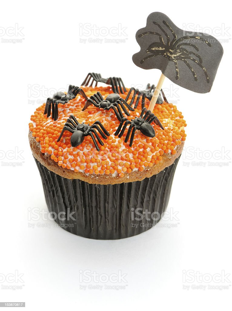Halloween cupcake royalty-free stock photo