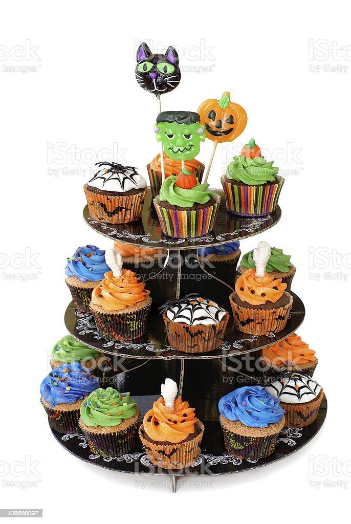 Halloween cupcakes royalty-free stock photo