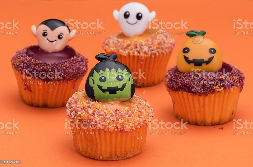 Halloween cupcakes stock photo