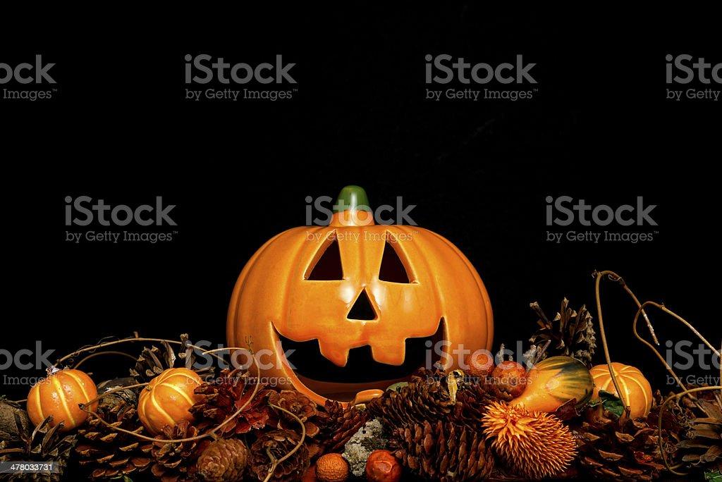 Halloween decoration on black background royalty-free stock photo