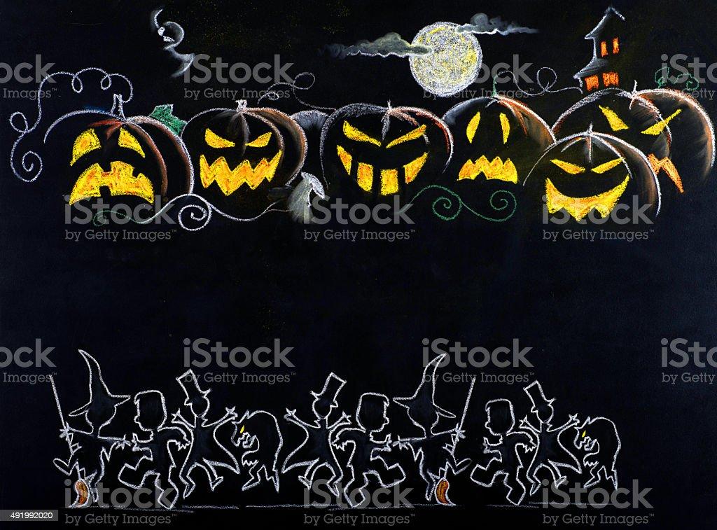 Halloween drawing stock photo