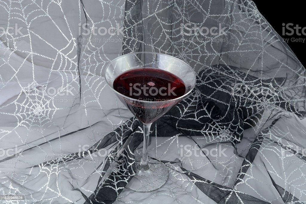 Halloween drink of (fake) blood stock photo