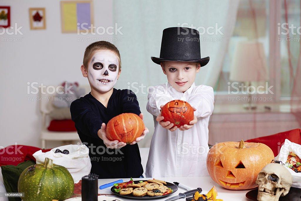 Halloween evening stock photo