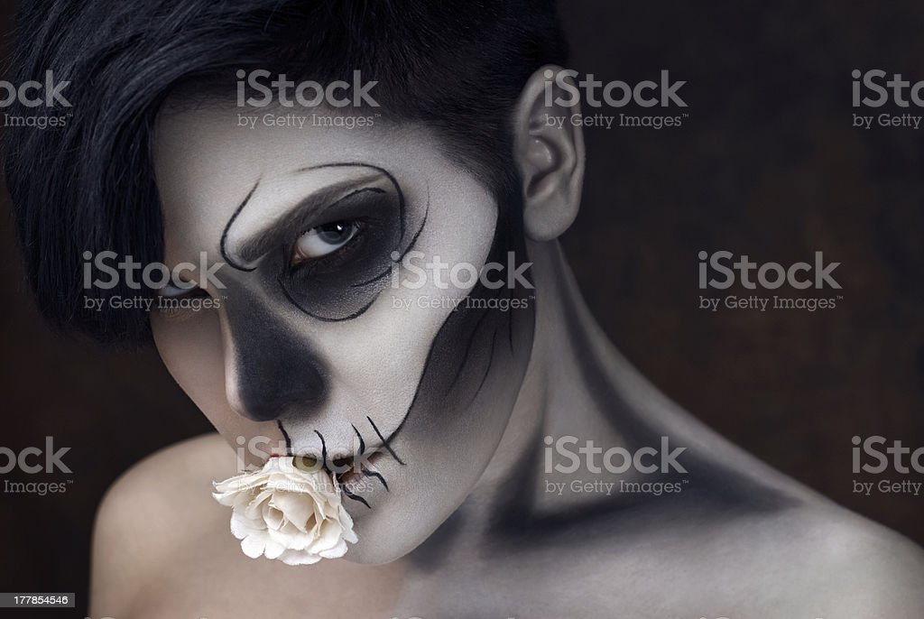 Halloween face art royalty-free stock photo