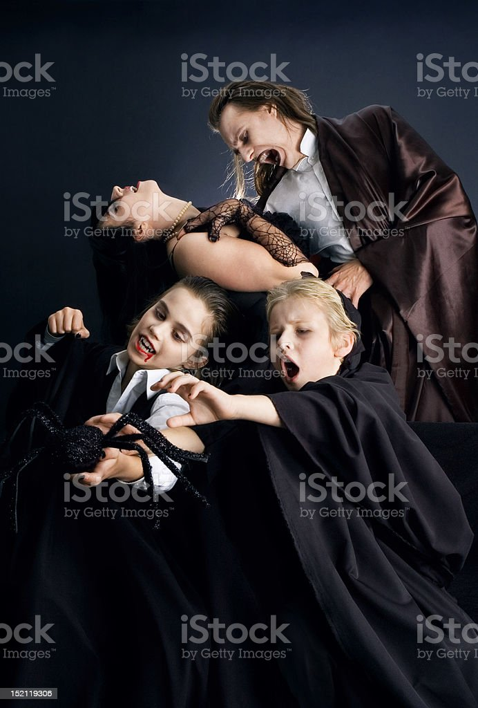 Halloween Family royalty-free stock photo