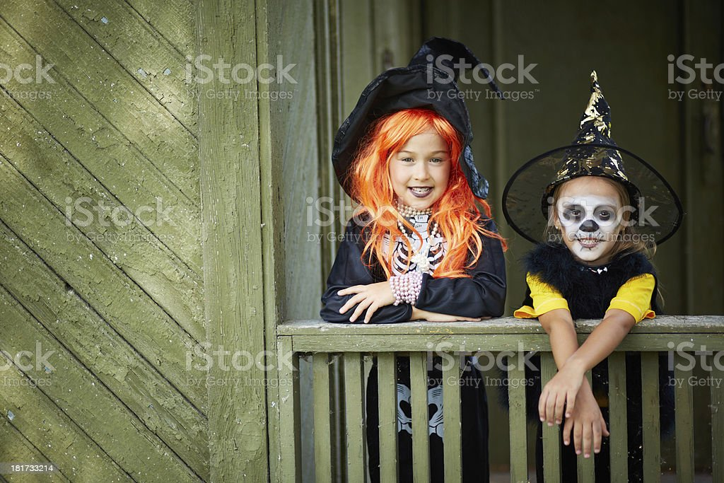 Halloween friends royalty-free stock photo