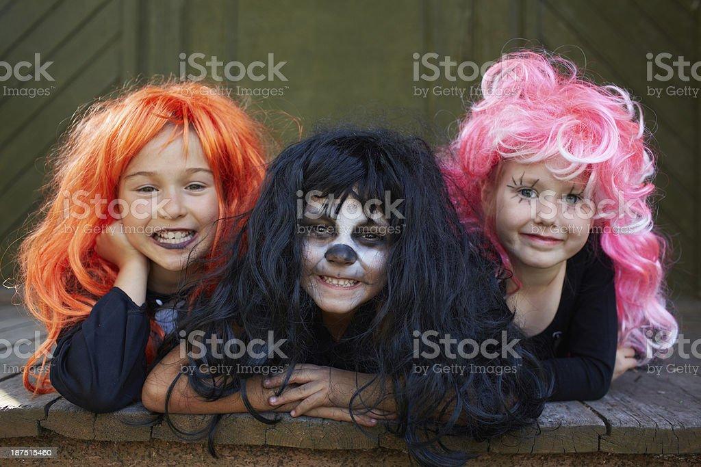 Halloween friends stock photo