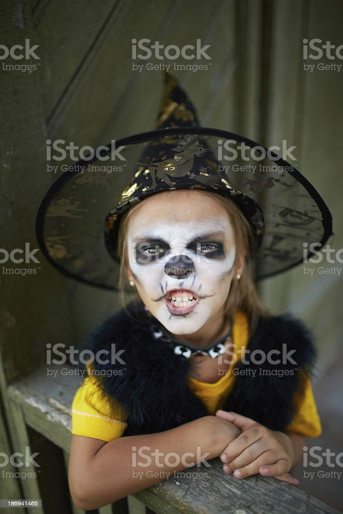 Halloween frightening royalty-free stock photo