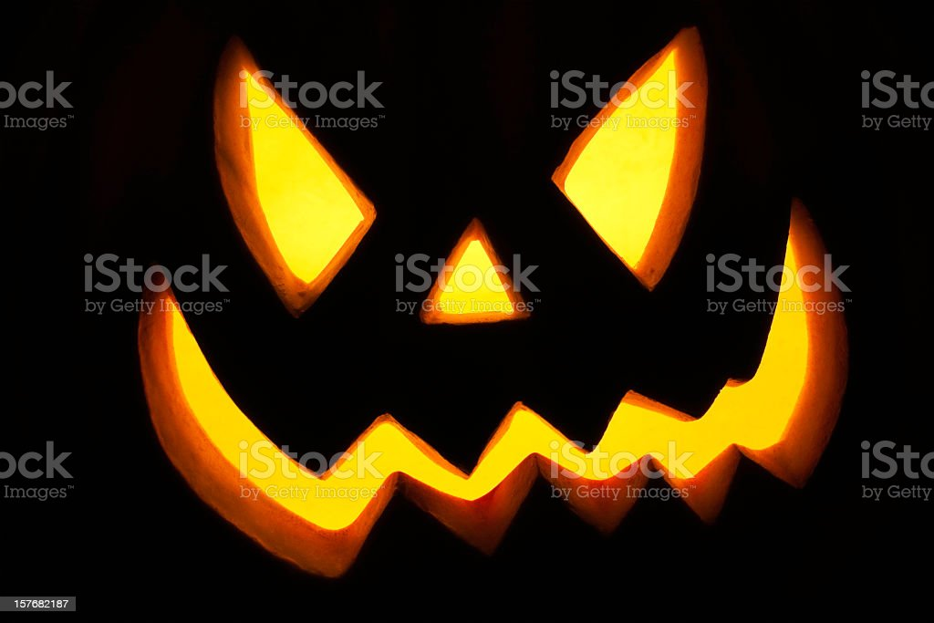 Halloween Full Frame Pumpkin royalty-free stock photo