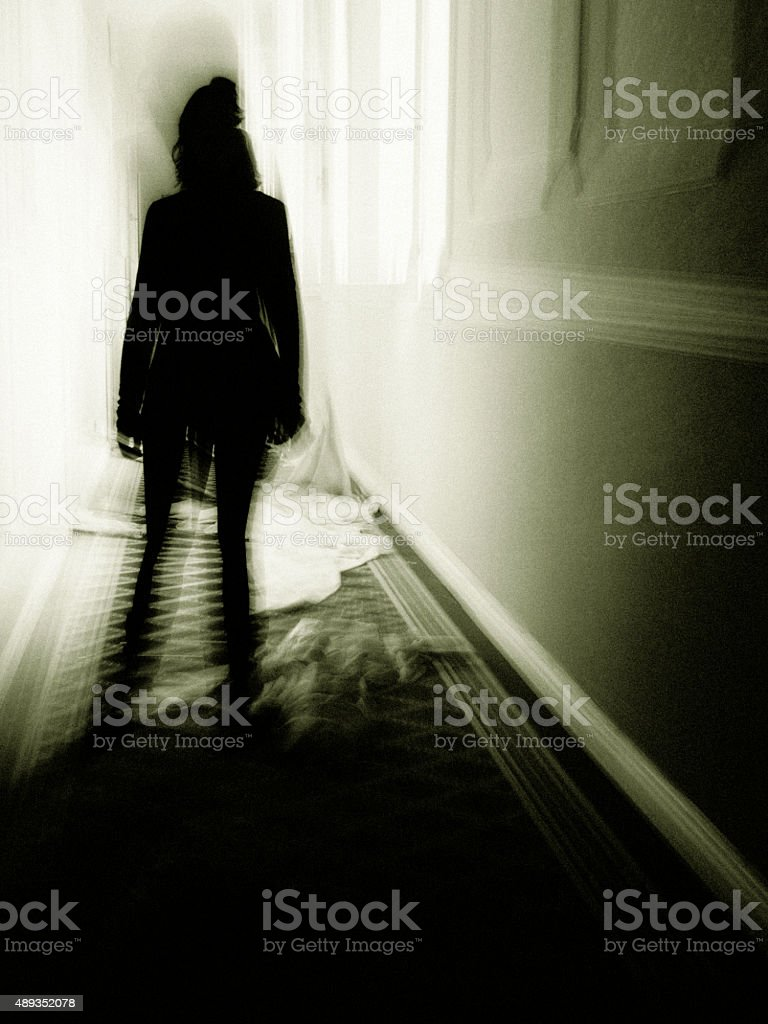 halloween haunting in madhouse stock photo
