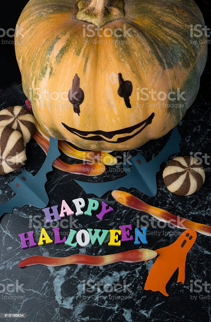Halloween holiday background stock photo
