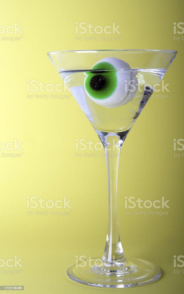 Halloween Horror Eyeball Martini Glass Drink Gross royalty-free stock photo