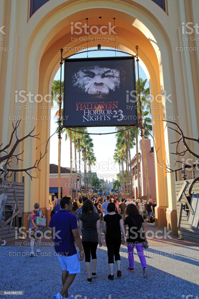 Halloween Horror Night in the Universal Studios stock photo