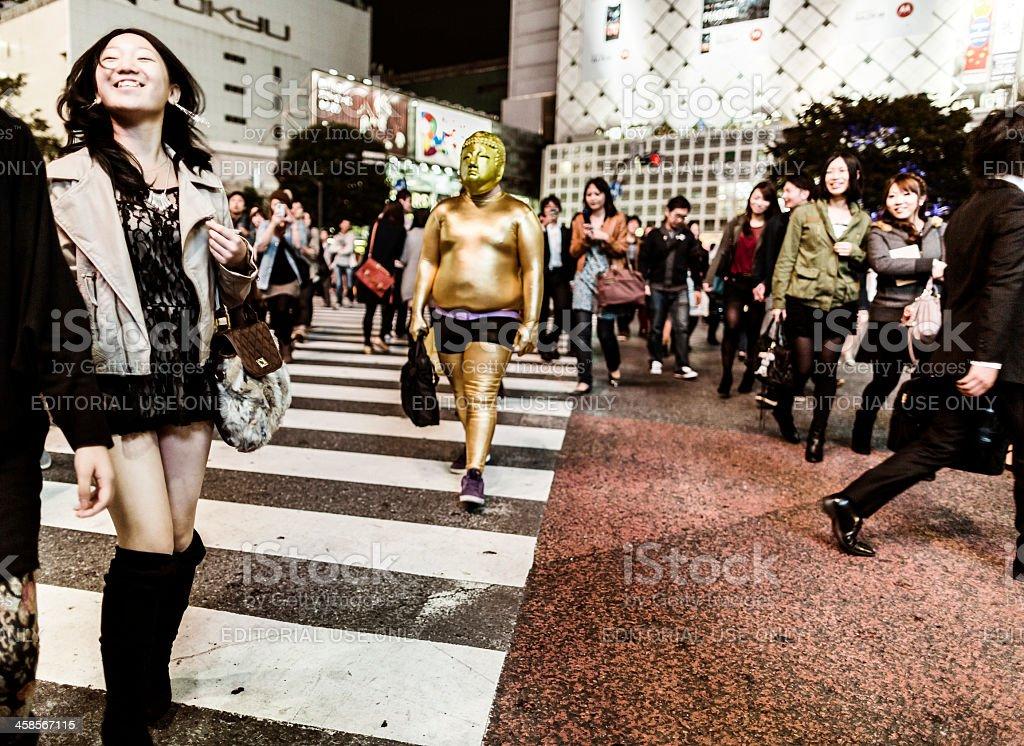 Halloween in Shibuya Tokyo Japan royalty-free stock photo