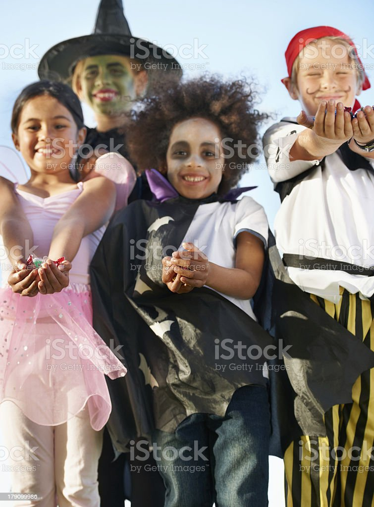 Halloween: It's all about the candy! royalty-free stock photo