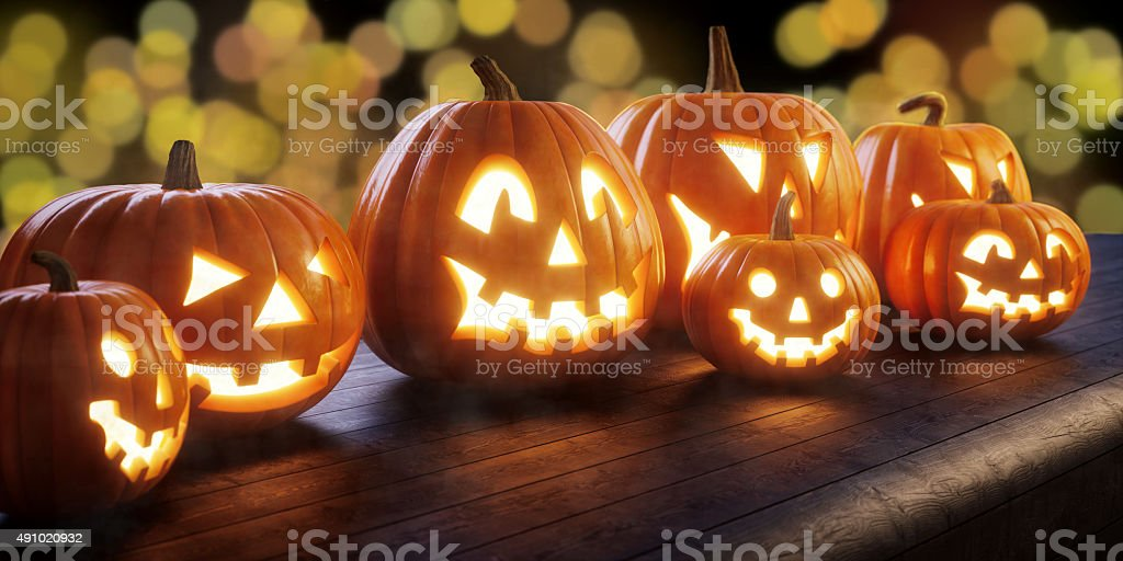 Halloween Jack O' lantern A10 stock photo
