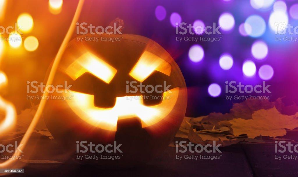 Halloween Jack O Lantern stock photo