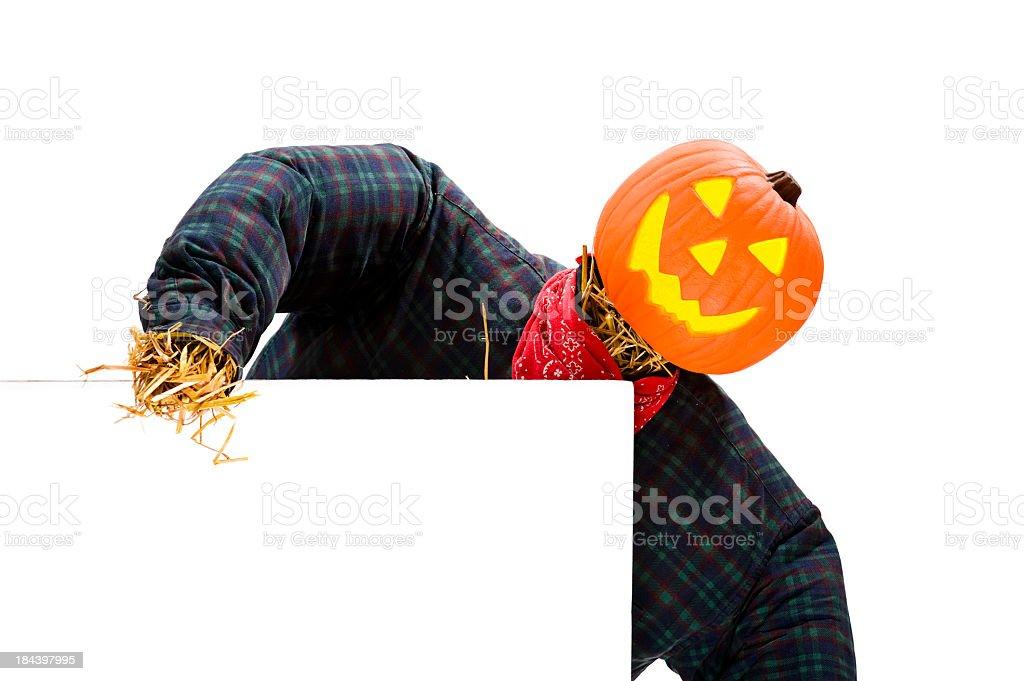 Halloween, Jack O' Lantern Scarecrow royalty-free stock photo