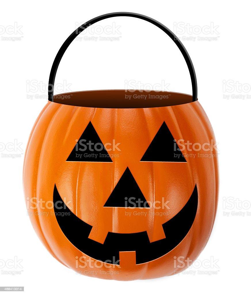 Halloween Jack-O-Lantern Candy Holder stock photo