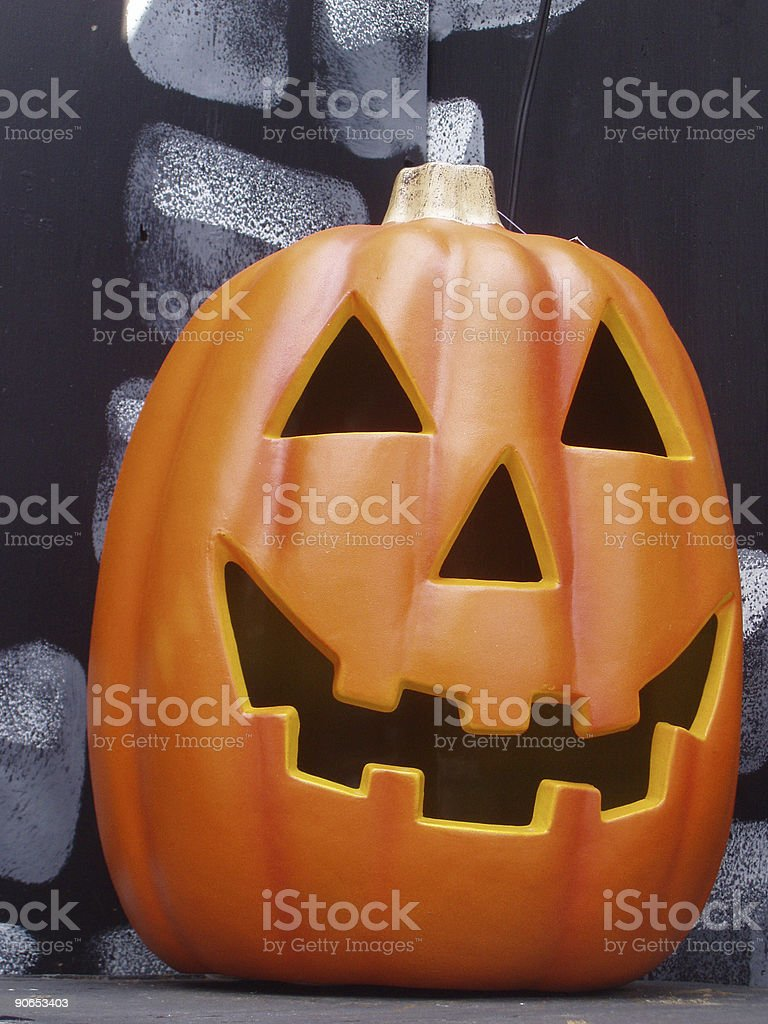 Halloween Jack-O-Lantern royalty-free stock photo