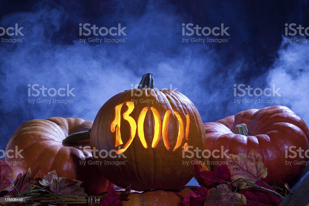Halloween Jack-o-Lantern Pumpkin royalty-free stock photo