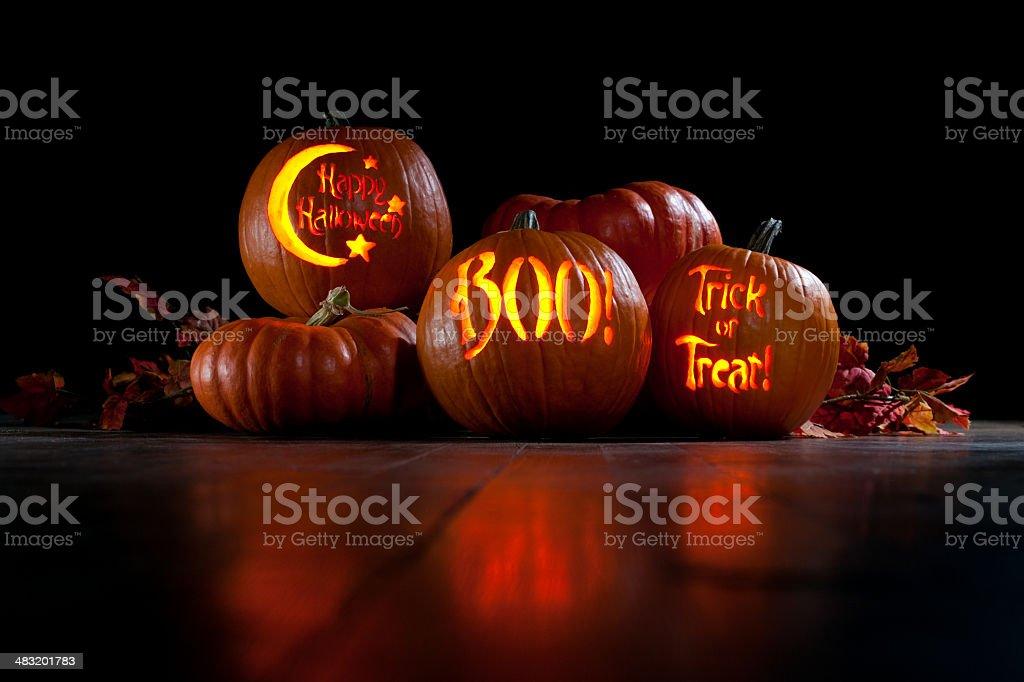 Halloween Jack-o-Lantern Pumpkin stock photo