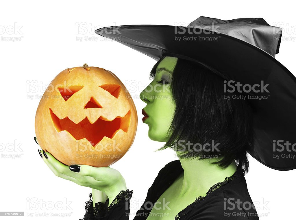 Halloween kiss royalty-free stock photo