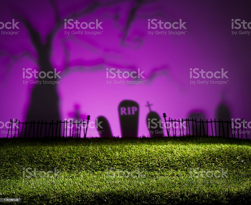 Halloween landscape royalty-free stock photo