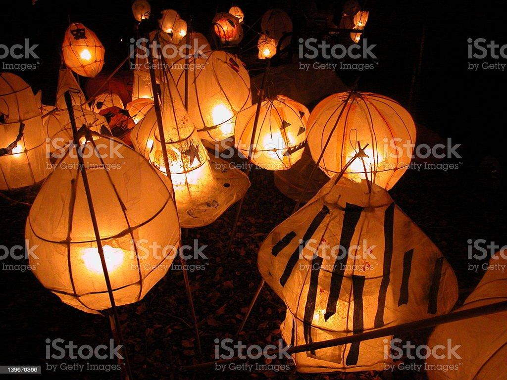Halloween lantern parade royalty-free stock photo