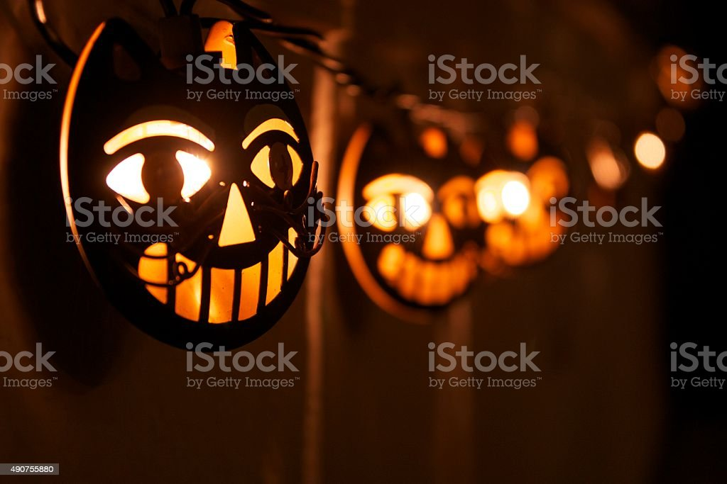 Halloween lights stock photo