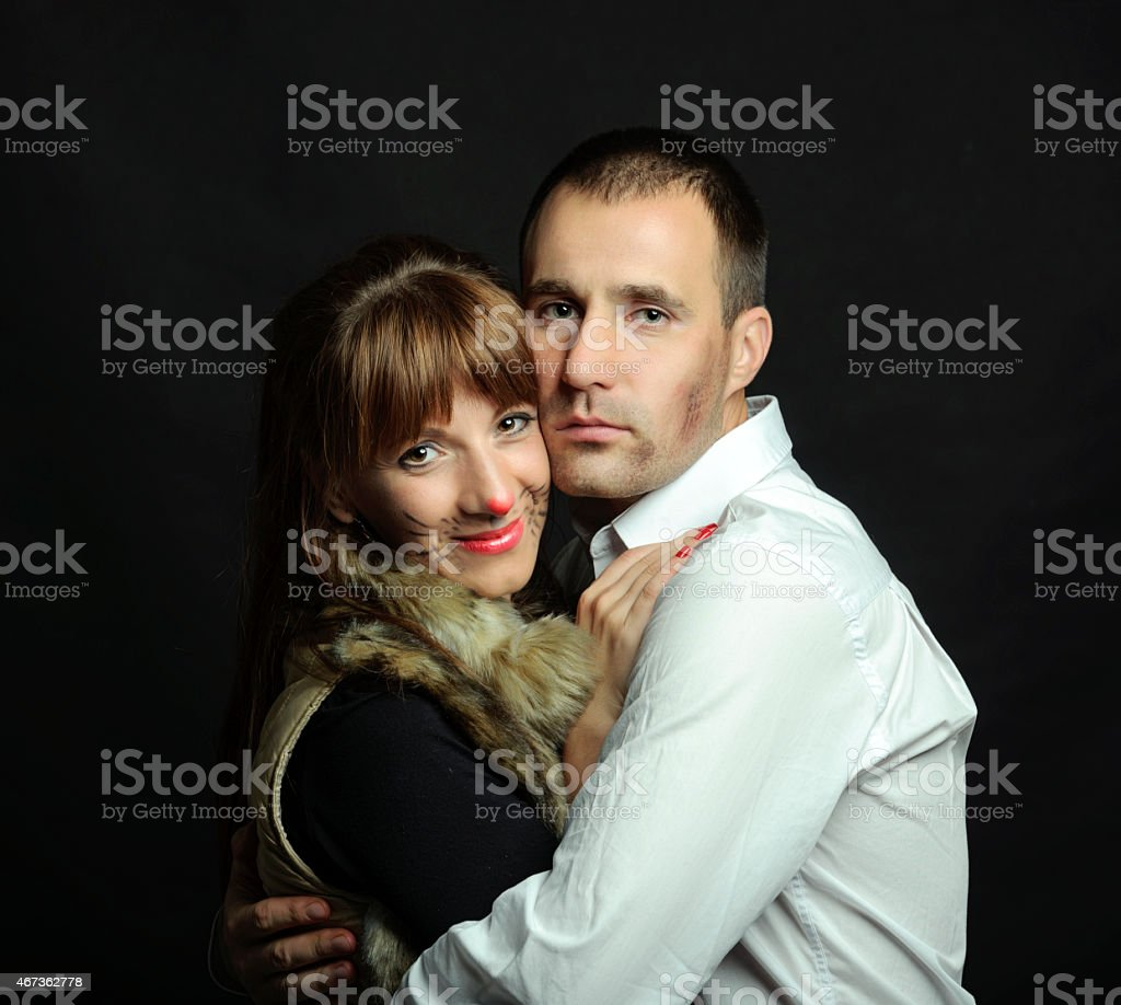 Halloween love stock photo