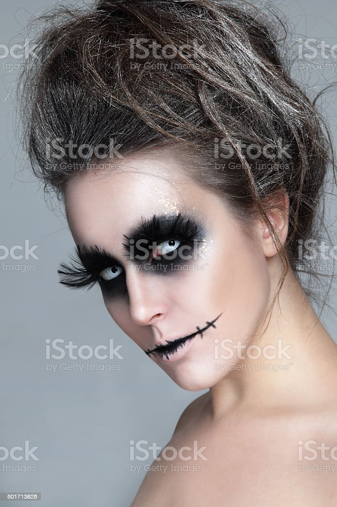Halloween make-up stock photo