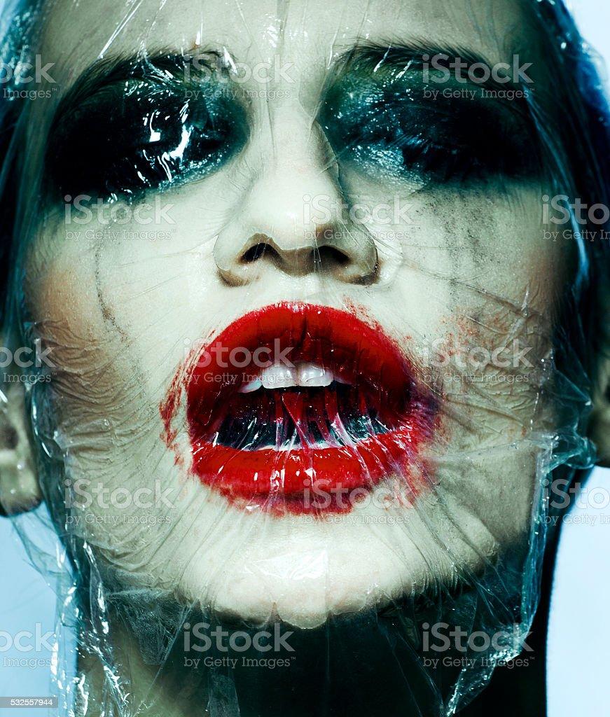 Halloween makeup stock photo