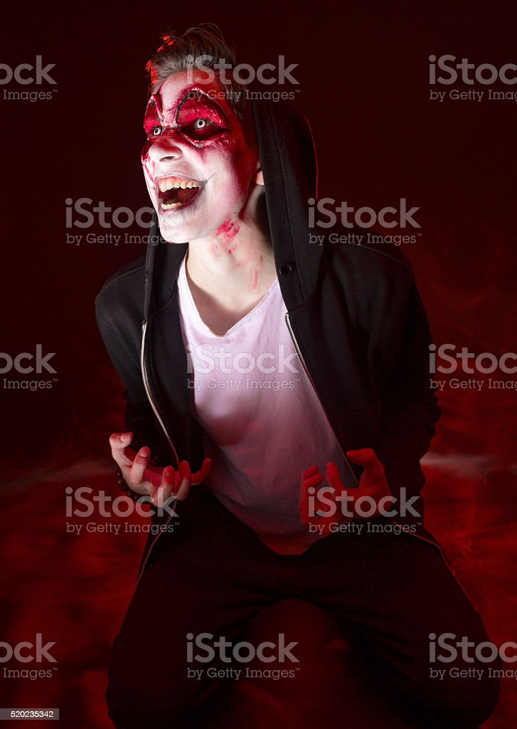 Halloween Man Face stock photo