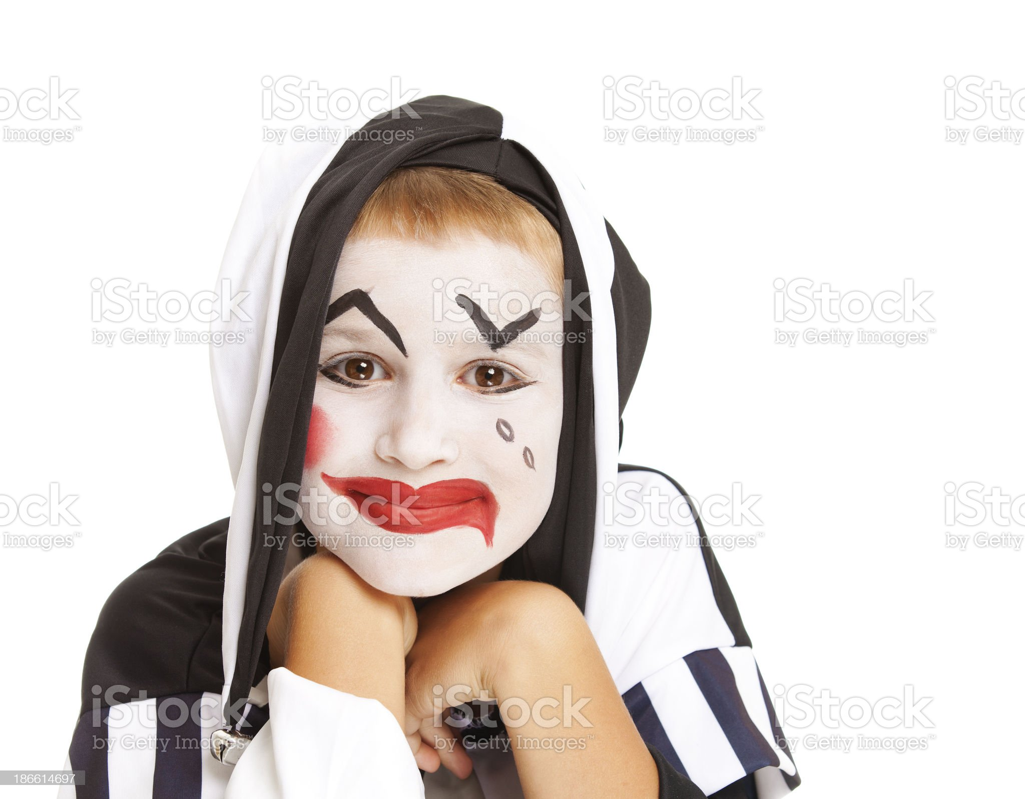 Halloween mask and costume royalty-free stock photo