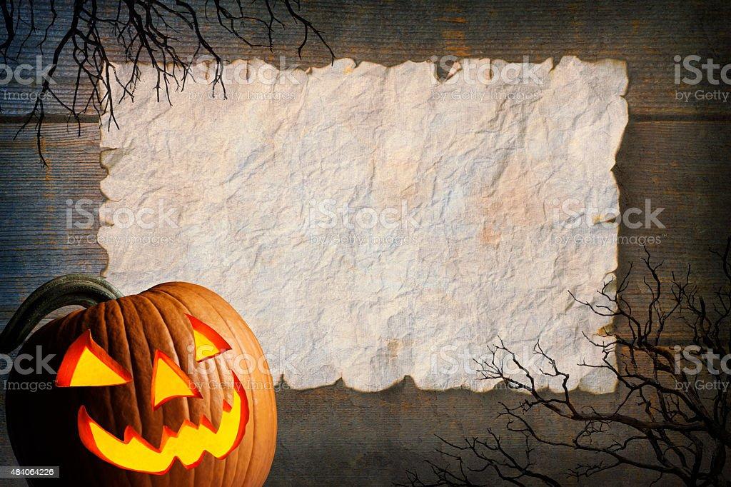 Halloween Message stock photo