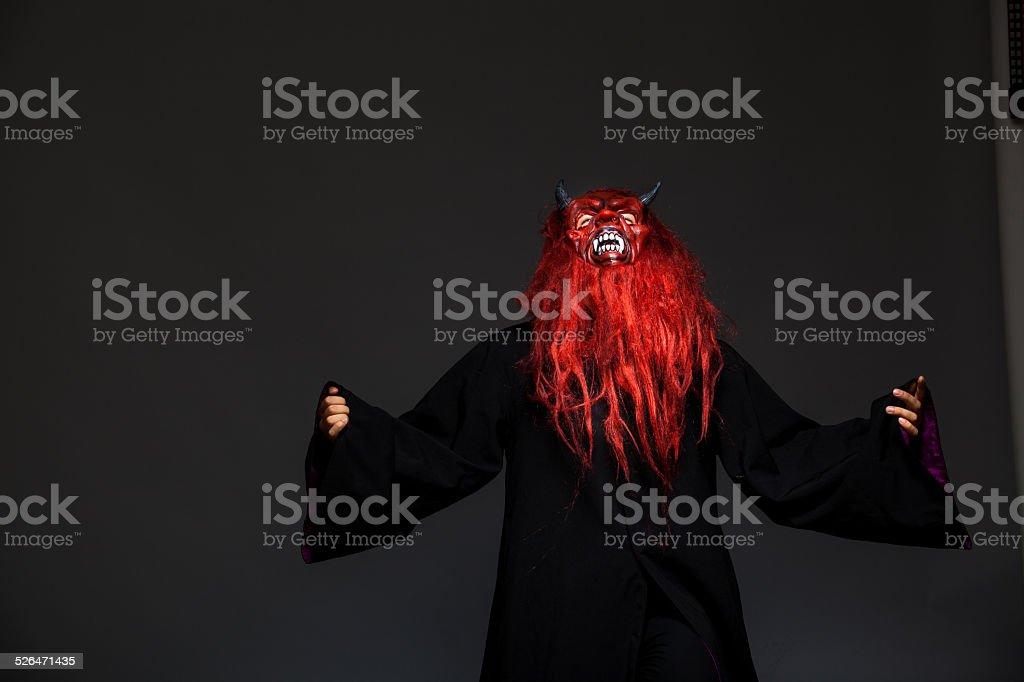 halloween monster on dark background stock photo