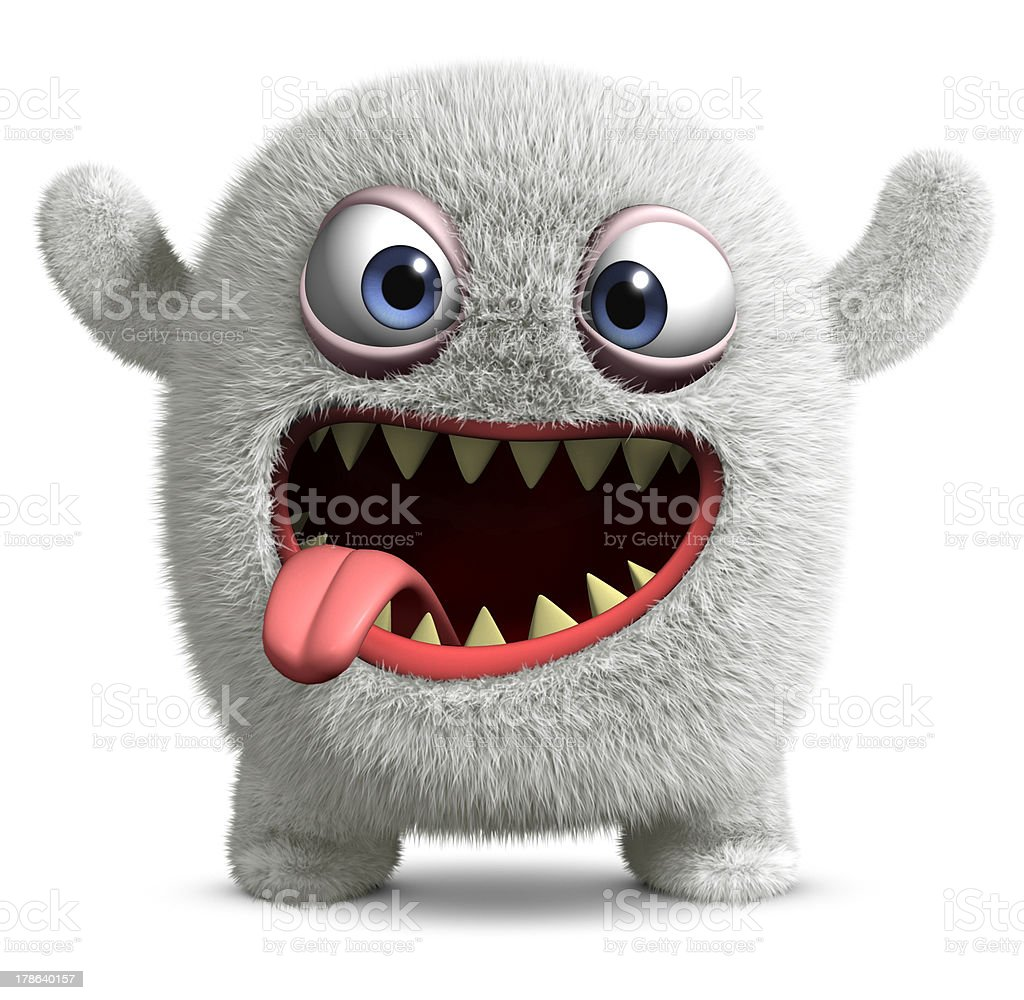halloween monster stock photo
