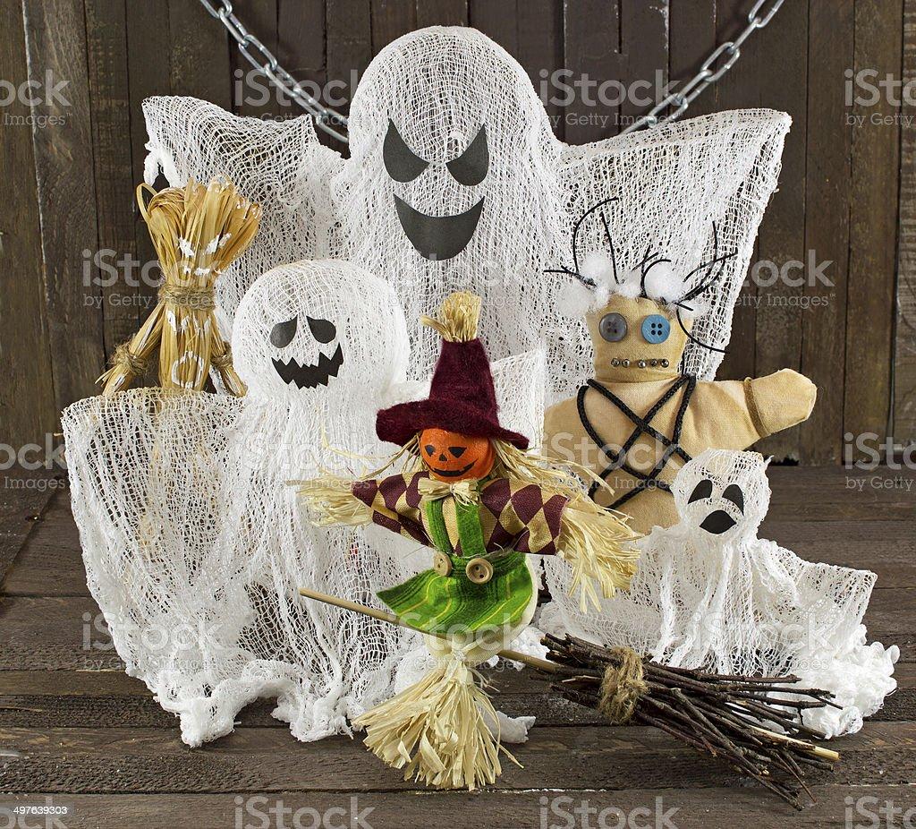 Halloween monsters stock photo