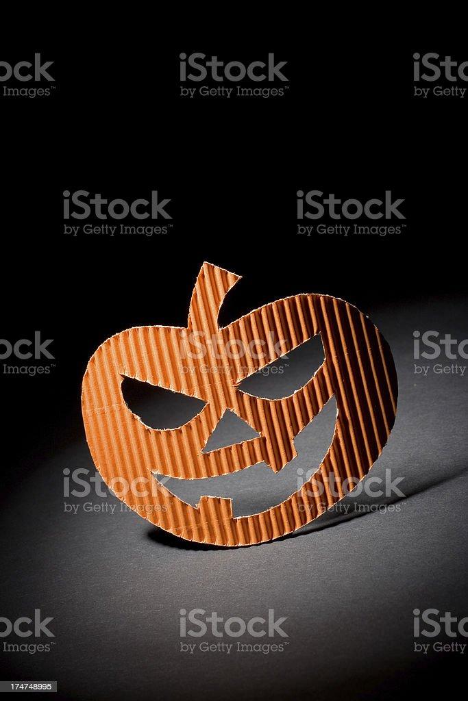 Halloween paper pumpkin royalty-free stock photo