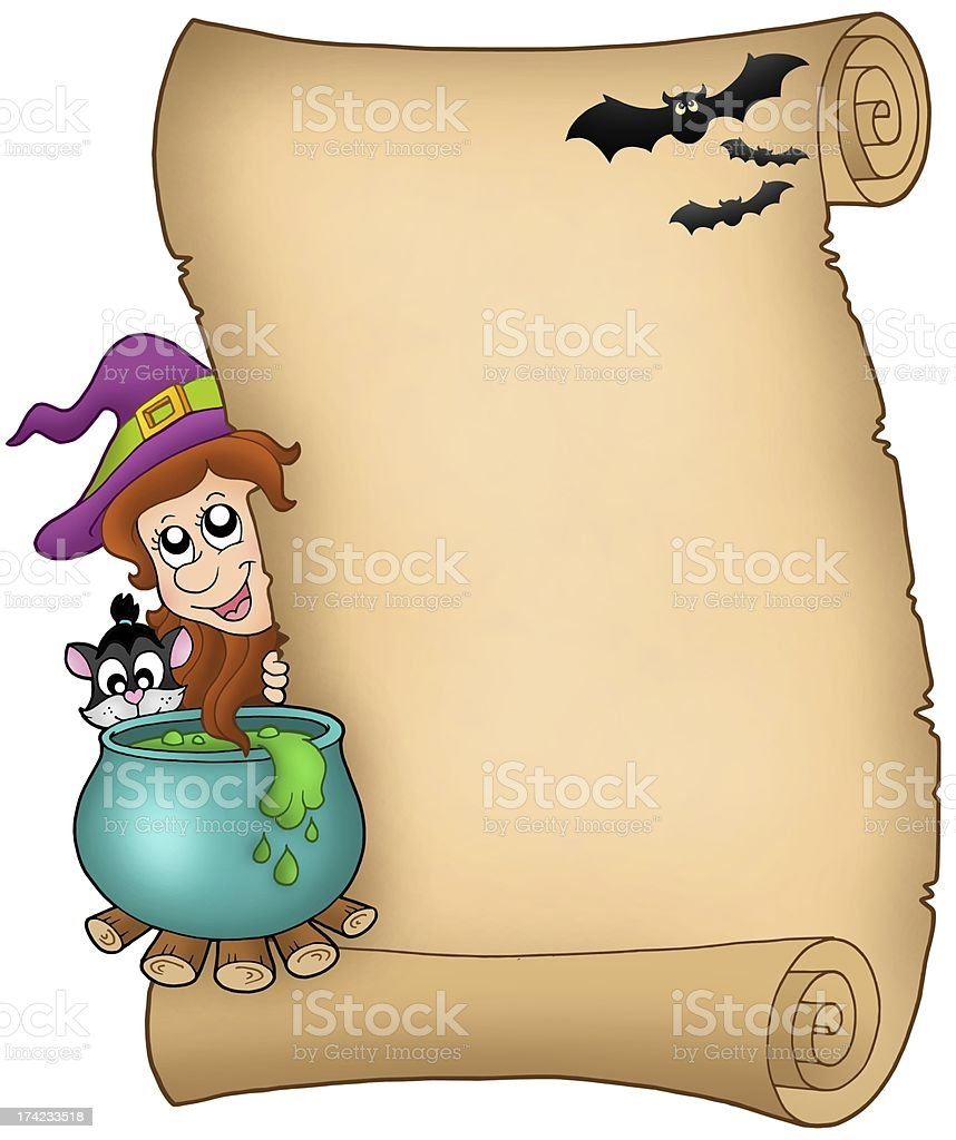 Halloween parchment 3 royalty-free stock photo