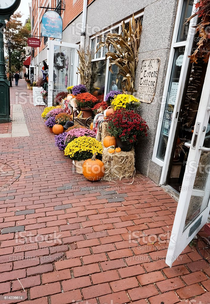 Halloween Pumkins Seen At Salem, MA, USA stock photo