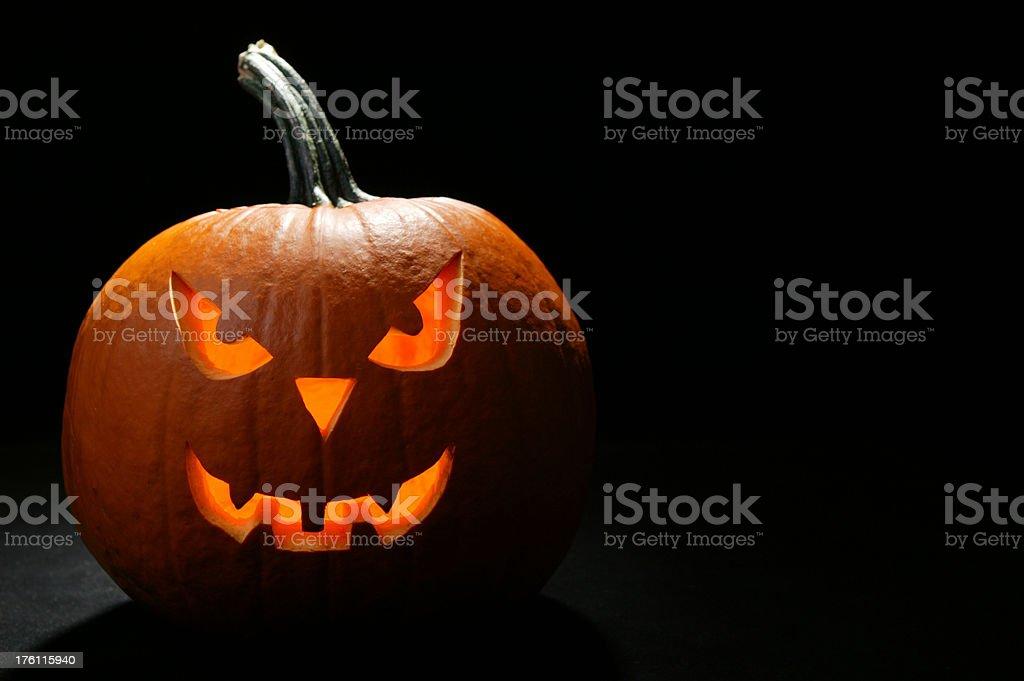 halloween pumpkin at night stock photo