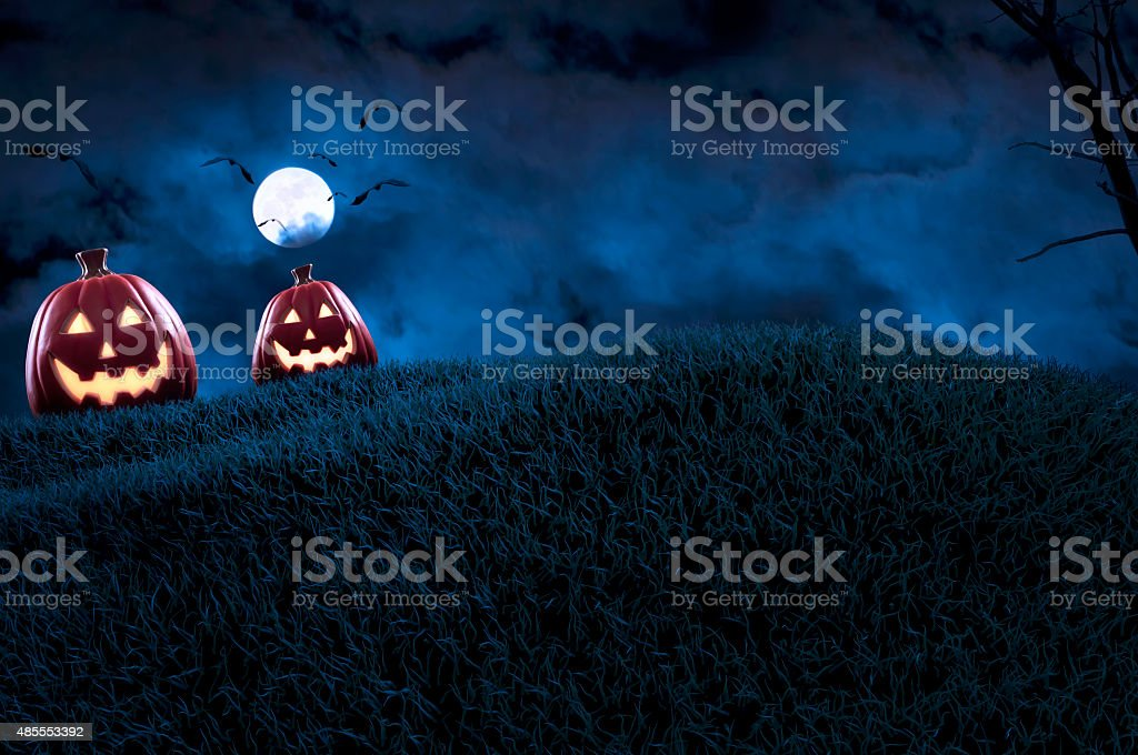 Halloween Pumpkin Background vector art illustration