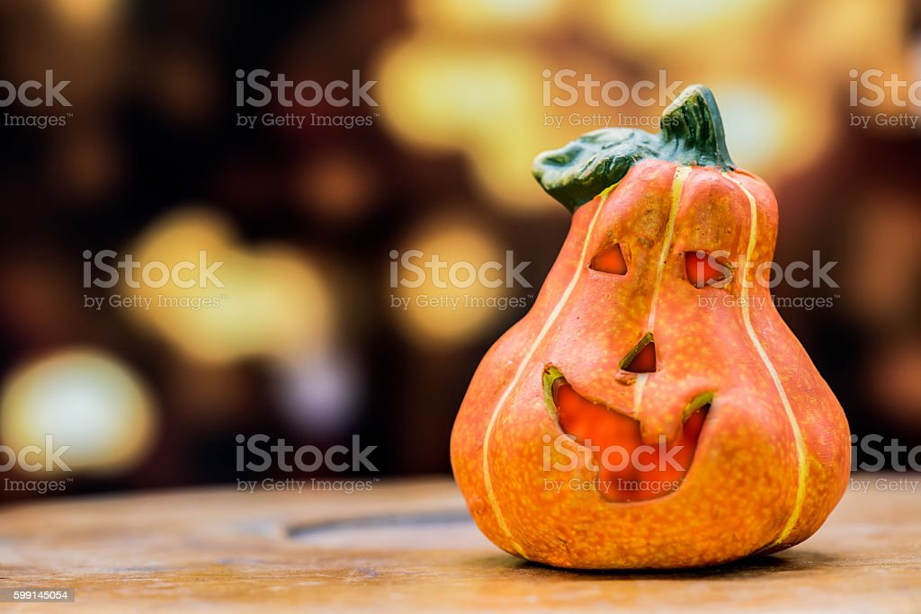 Halloween pumpkin, black and dark style stock photo