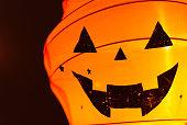 Halloween pumpkin head jack lantern with paper balloon