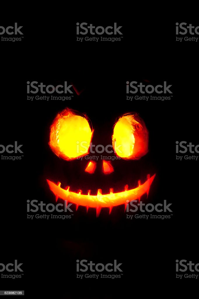 Halloween pumpkin head stock photo