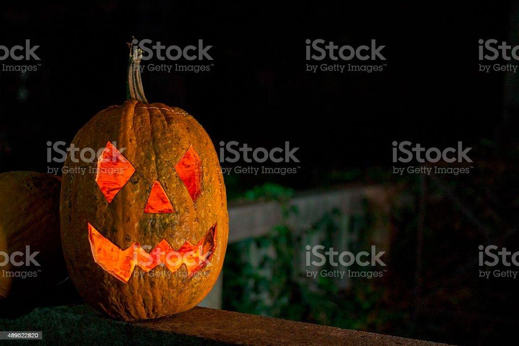 Halloween pumpkin, jack o lantern stock photo