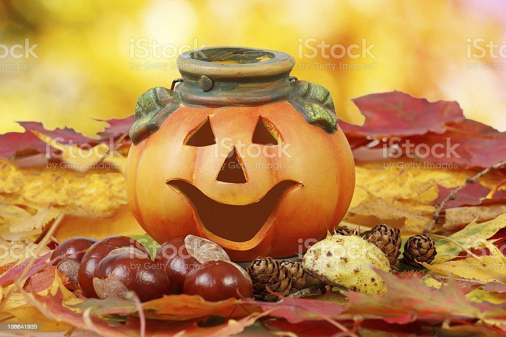Halloween Pumpkin Lantern royalty-free stock photo