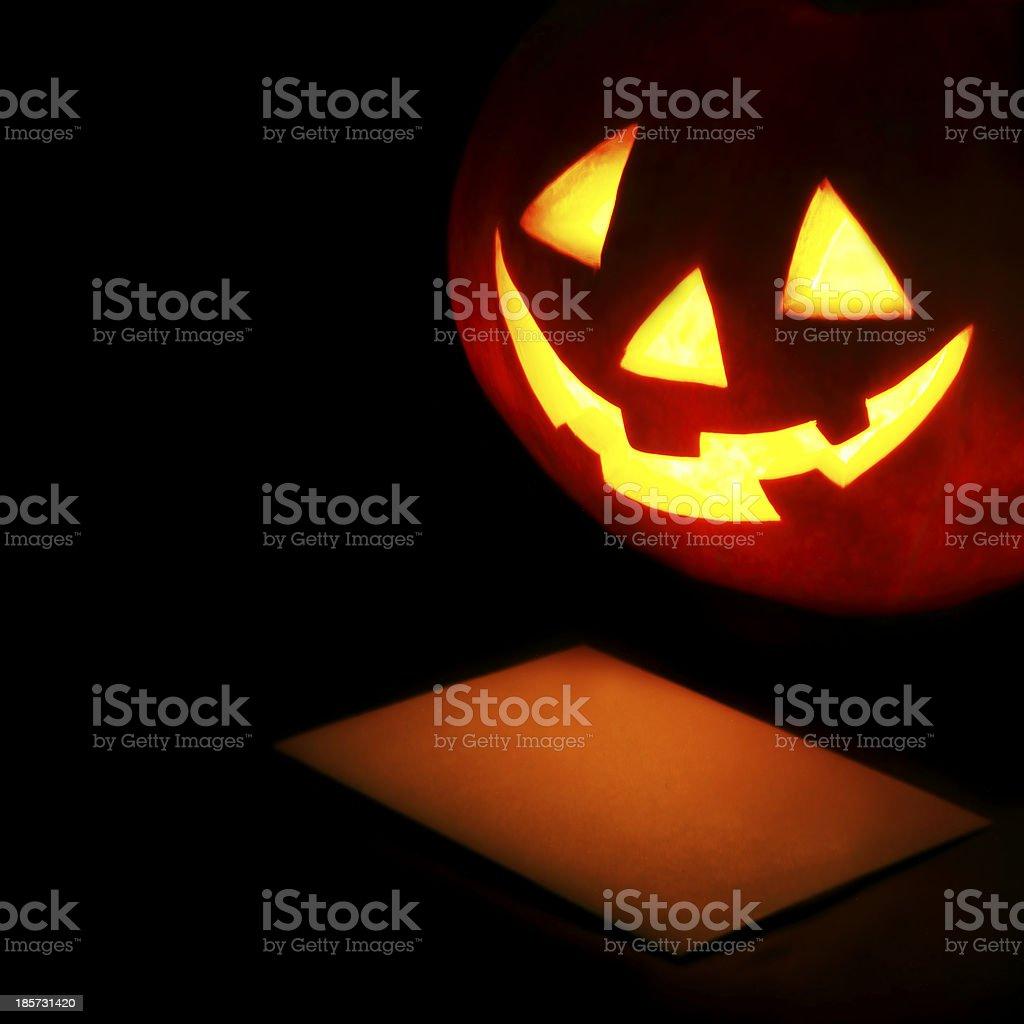 Halloween pumpkin lantern stock photo